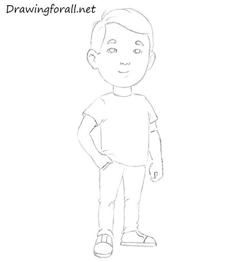 How to Draw a Man for Kids | Drawingforall