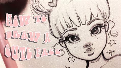 HOW TO DRAW A CUTE FACE ♡| Step by Step with Christina