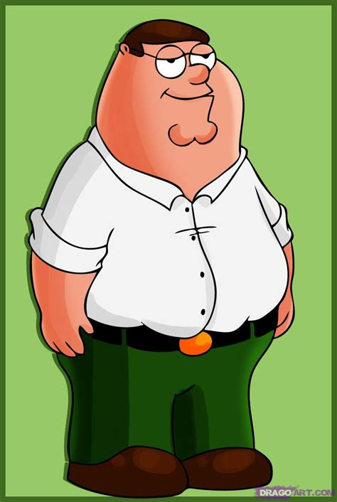 How to Draw Peter Griffin, Step by Step, Cartoons